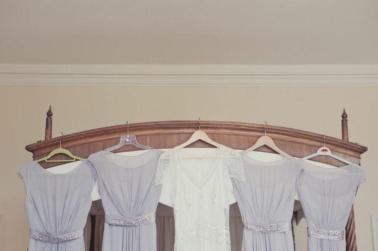 Bride & bridesmaid's dresses