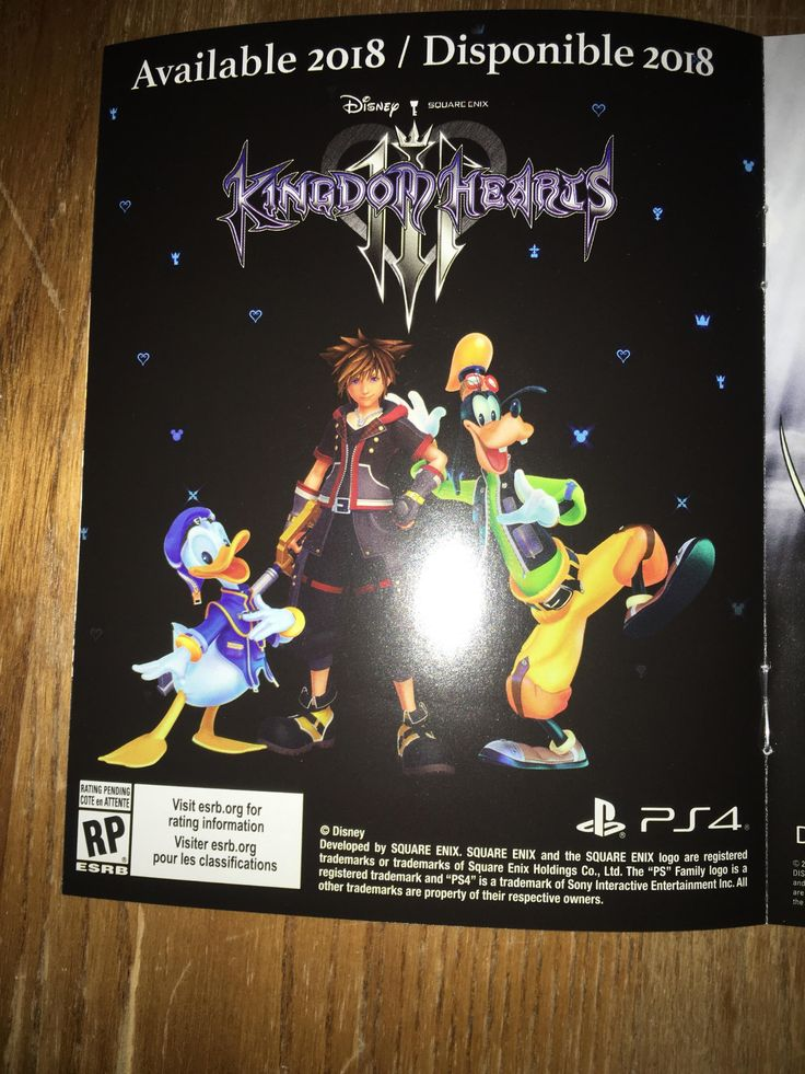 Found this in the case for FFXV: Royal Edition... Has the 2018 release date for KH3 been confirmed?