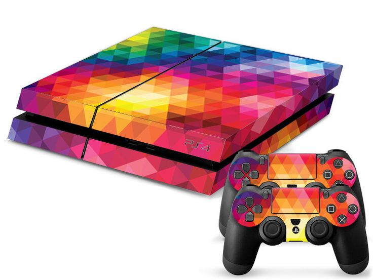 Colorful Rainbow PS4 Skin + 2 Controller Skins