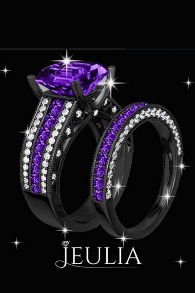 black and purple wedding rings 17 best ideas about purple things on purple 1807