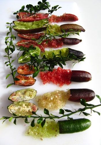 Finger Limes (Australian Native Limes) How amazing do these look, would love to find some in south aus.