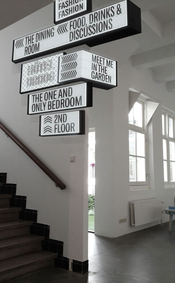 #Signage. Droog lichtbakken, Silo Design Droog Amsterdam: design hotel, restaurant, shop en museum!