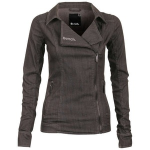 Denim Biker Jacket (Grey) by Bench