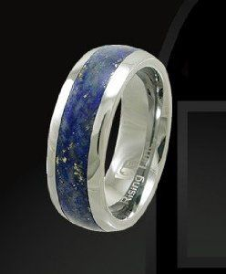Rising Time TN-3107-sz-9 Tungsten Band With Lapis Lazuli Stone Inlay Ring Size- 9 Rising Time. $129.00