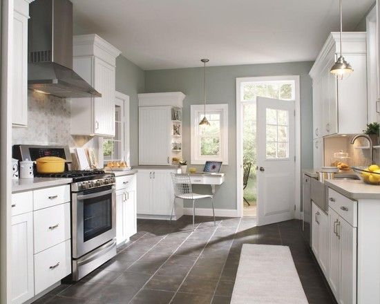 Paint color benjamin moore sea haze kitchen love for Grey and green kitchen