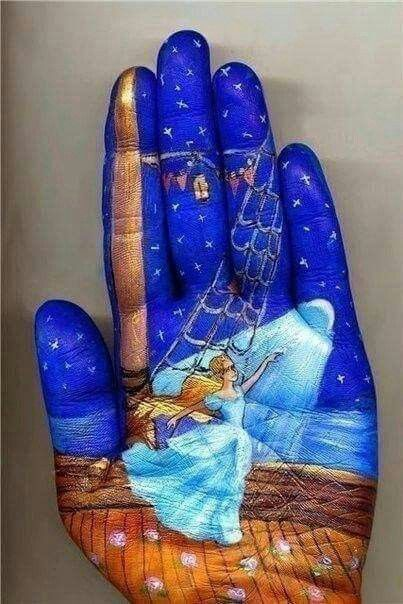 Hand paintings