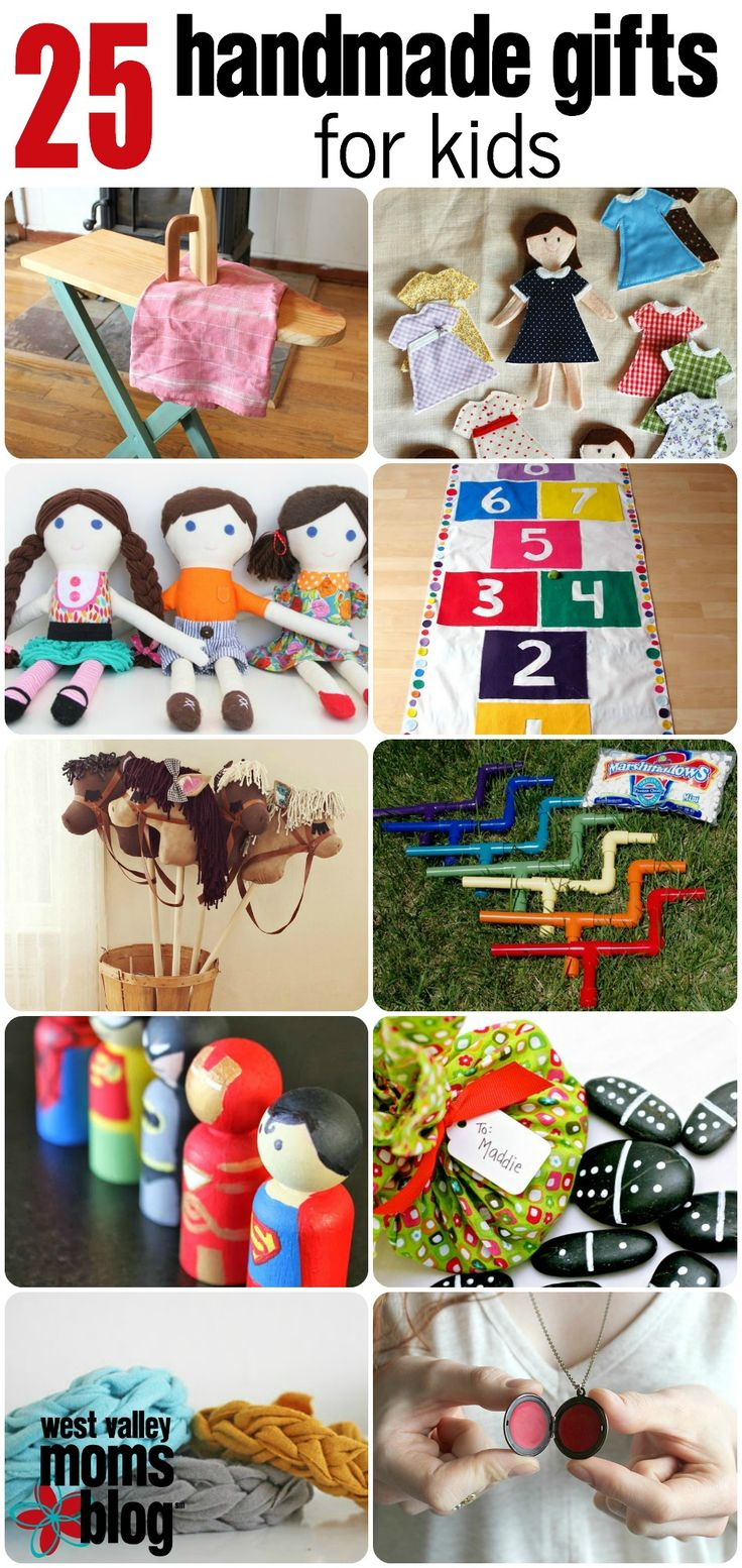 25 Handmade Gifts for Kids - perfect for the holidays!