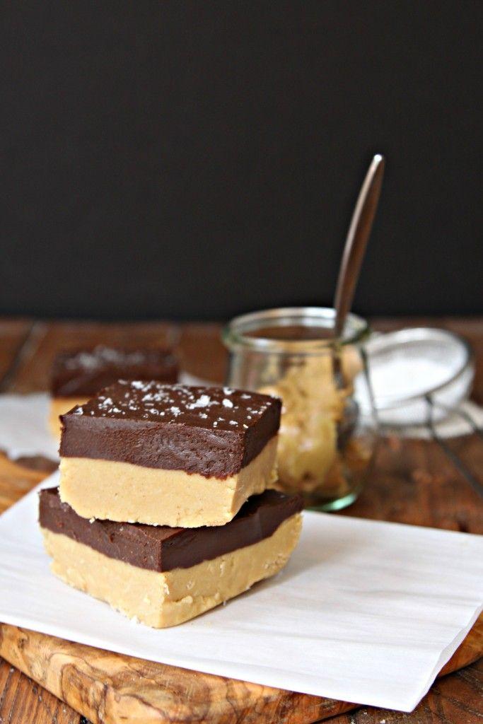 Chocolate Peanut Butter Layered Fudge