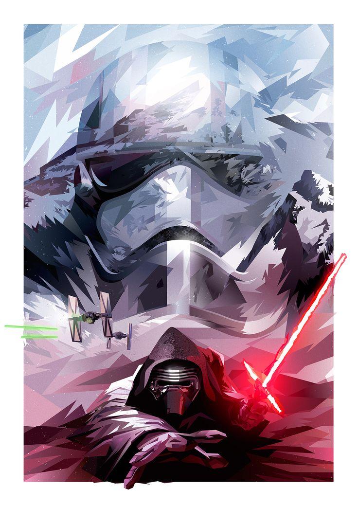 Star Wars: The Force Awakens tribute on Behance