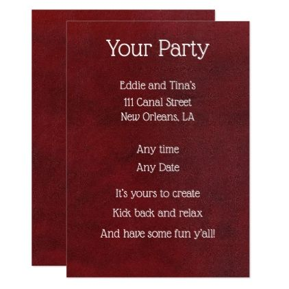 Your Party to Create Card - create your own gifts personalize cyo custom