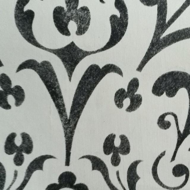 Baroque Design Stencil Art by Jane von Rathsach www.danishdesignembassy.com