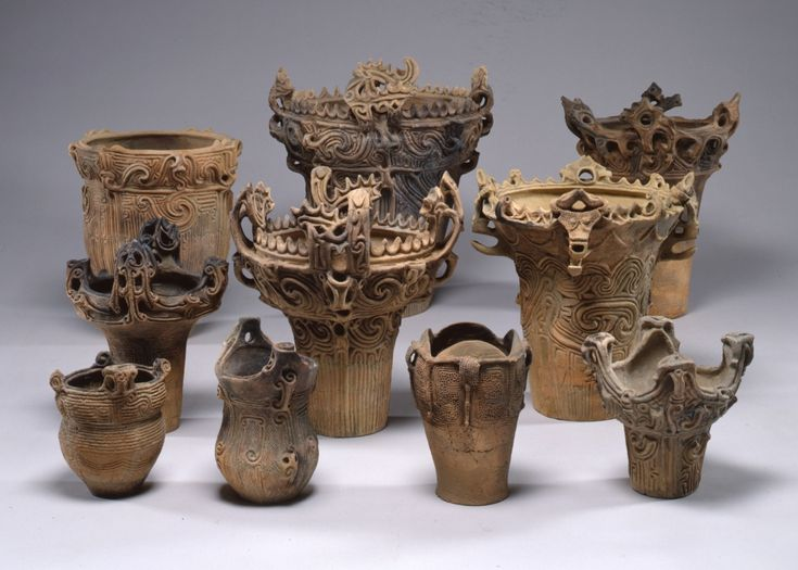 Collection of Jomon vessels