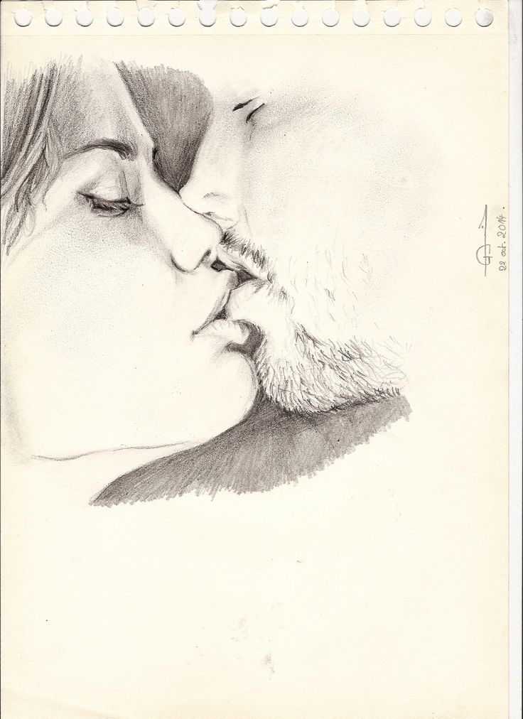 Sexy licking pencil sketch