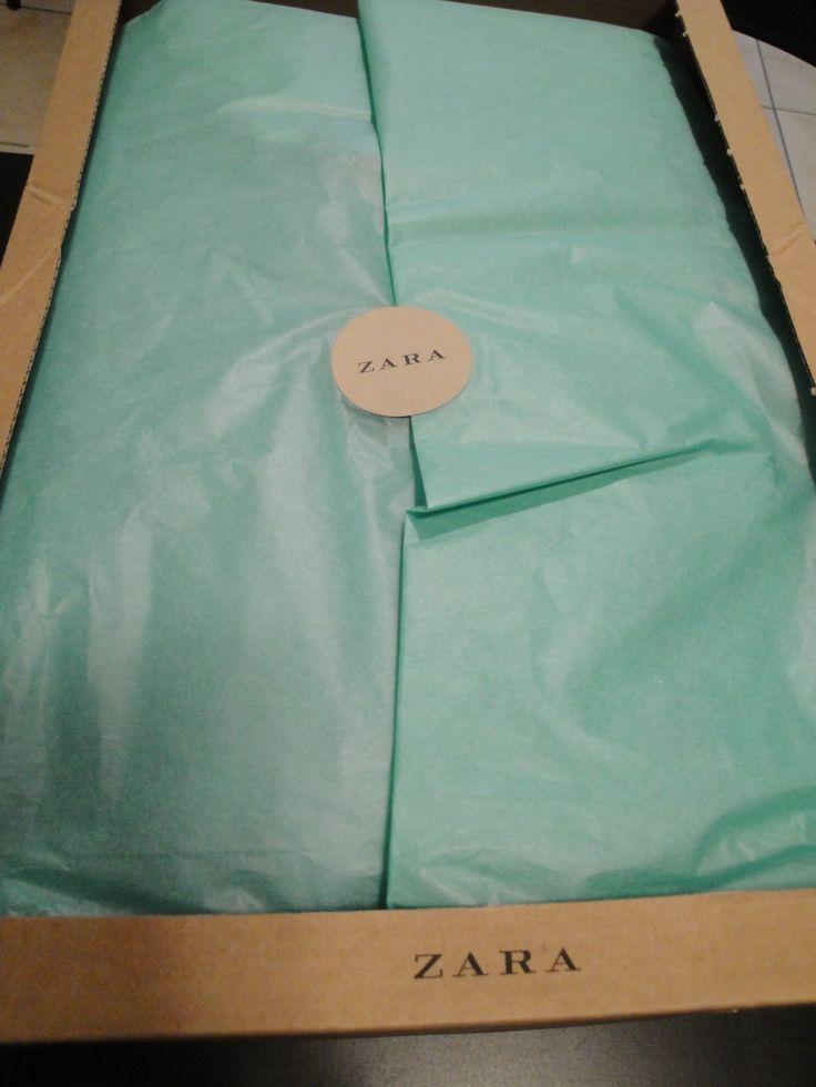 #Zara   #Shopping   #Gift   #Present   #Blue   #Turquoise   #Tissue   #Paper…