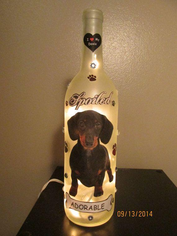 40 best diy ligthing lamps images on pinterest diy for Wine bottle night light diy