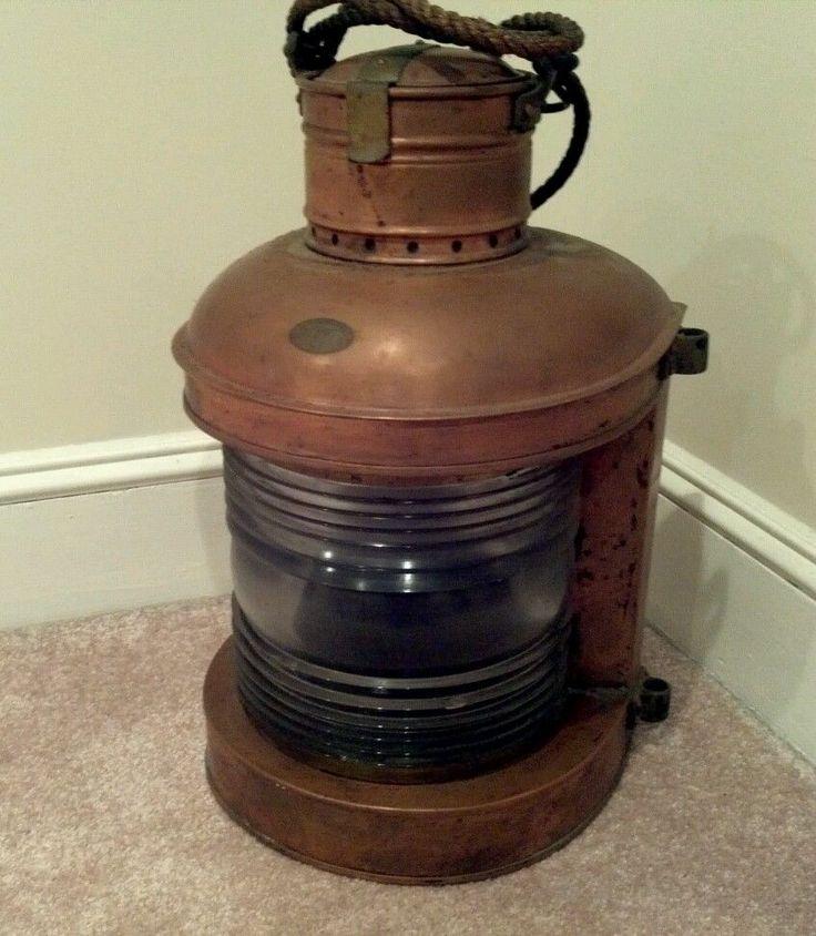 Antique Perko Navigation Lights Vintage Authentic Naval: Antique Perkins Marine SHIP's Lantern
