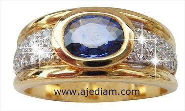 Oval Burmese blue Sapphire diamond ring A214 picture