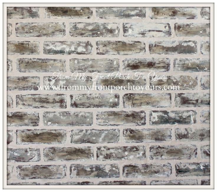 Diy Faux Brick Wall Tutorial Using Chalk Paint Paint