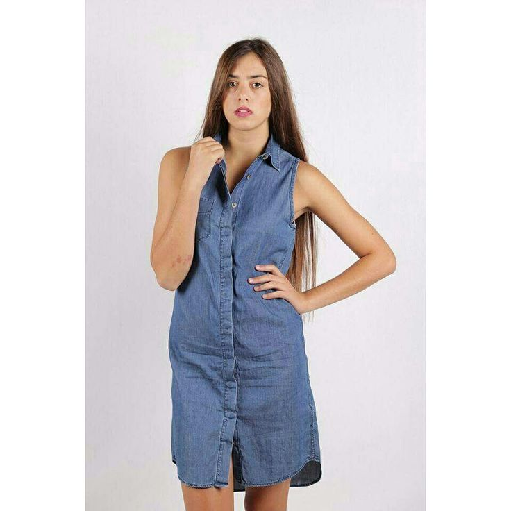 Our  denim dress, perfect for all day long!..find it here: http://bit.ly/1F5JK2M
