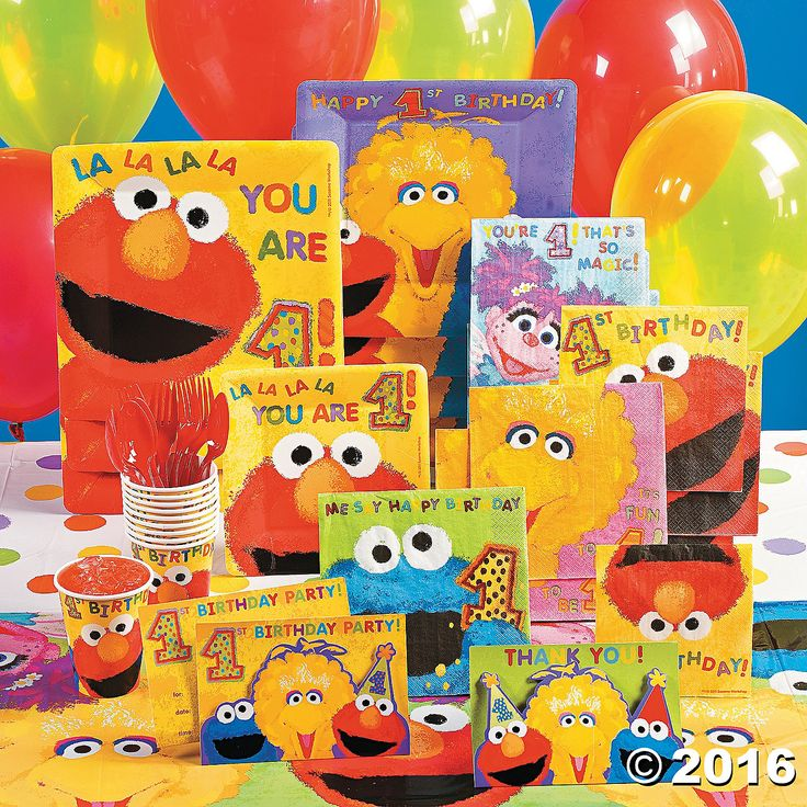 Sesame Street 1st Birthday Party Supplies - OrientalTrading.com