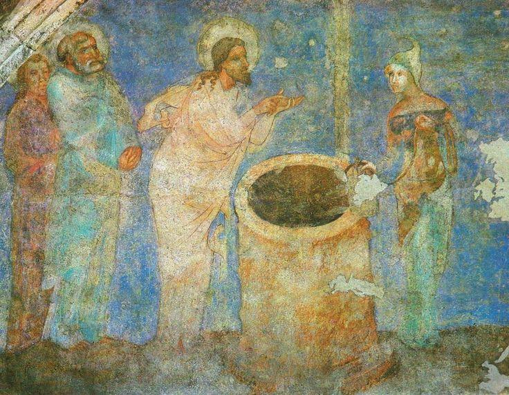 Kristus se Samaritánkou u studny (kolem roku 1360)