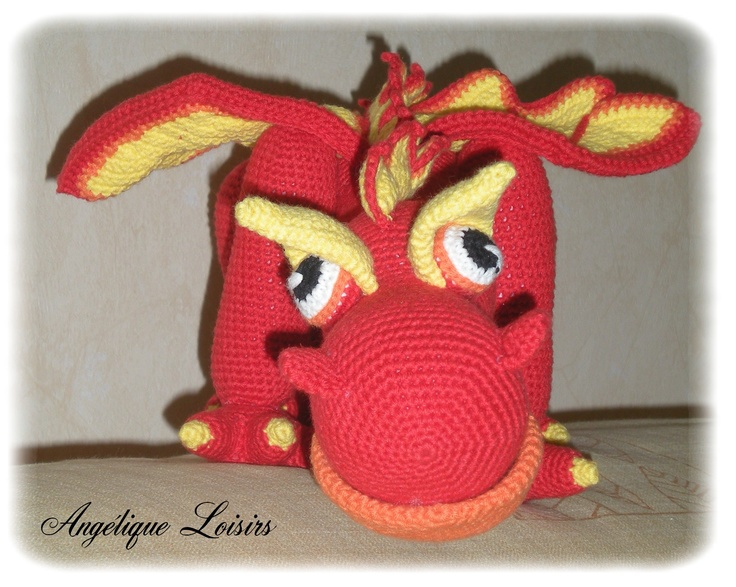 Crochet Patterns J Hook : Dragon, model of Delicious Crochet, pattern Delicious hook&...