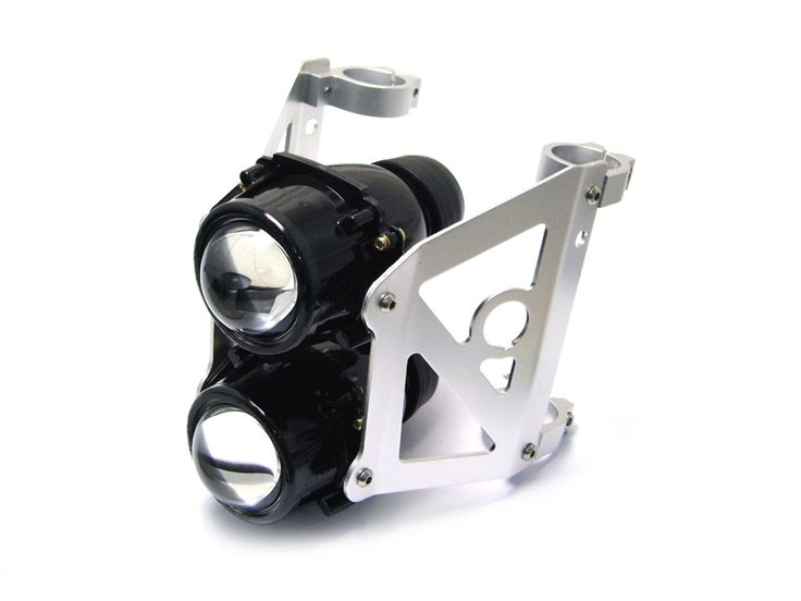 SpeedMotoCo 50mm 51mm Motorcycle Projector Headlight Streetfighter Cafe Racer Naked Sportbike Streetfighter