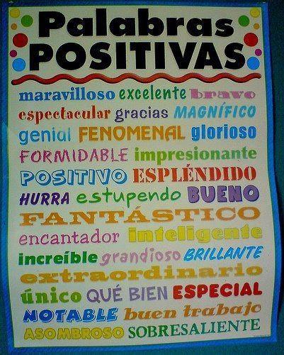 Hoy solo palabras positivas.