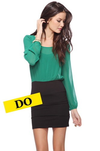 Colorblock Panel Dress, $19.80, available at Forever21.