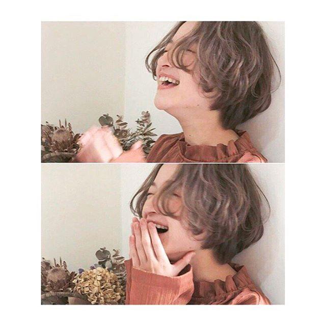_ hair/make/camera @kith.nao _ #kith.#恵比寿#ショートカット#ショートヘア#ショートボブ#外国人風#抜け感#透明感#グレージュ#アッシュ#春#撮影#作品撮り#メイク#サロンモデル#サロモ#アンニュイ#ナチュラル#ドライフラワー#くせ毛風#オフショット#kastane#hair#style#shooting#fashion#followme#makeup#love#happy
