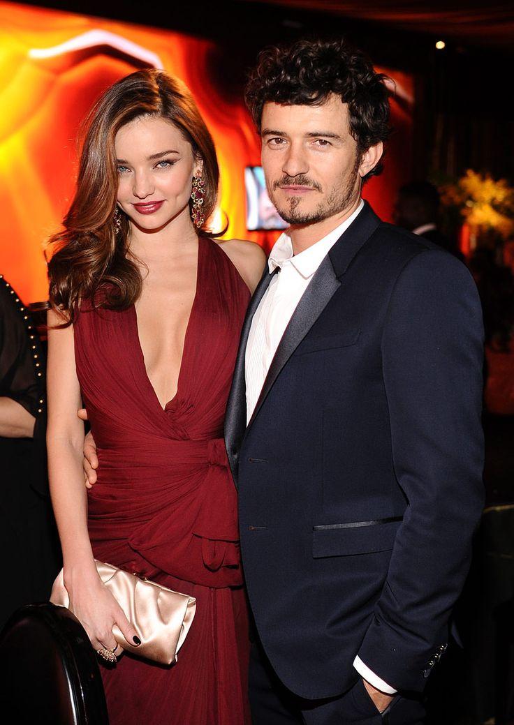 After party de los Golden Globes 2013 -Miranda Kerr y Orlando Bloom