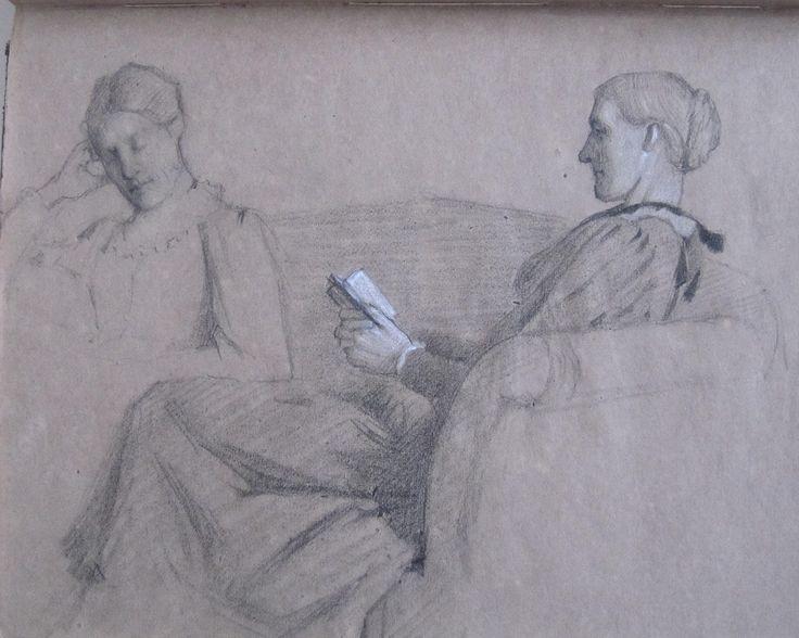 Virginia (Woolf) and her mother Julia Prinsep Stephen