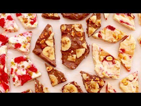 Frozen Yogurt Bark (Easy Snack Recipe) - Gemma's Bigger Bolder Baking - YouTube