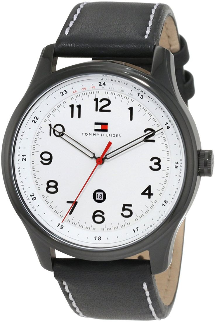 Tommy Hilfiger Men's 1710309 Classic Black IP Case and Blk leather strap Watch ** Find out more about the great watch at the image link.
