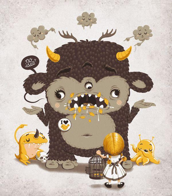 Illustrator:  Andreas Krapf #illustration #characterdesign #tshirtdesign