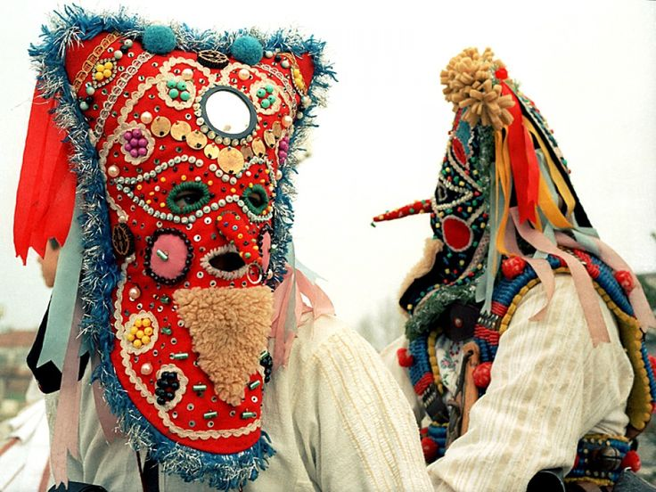 Bulgarian Kukeri Folk Mask