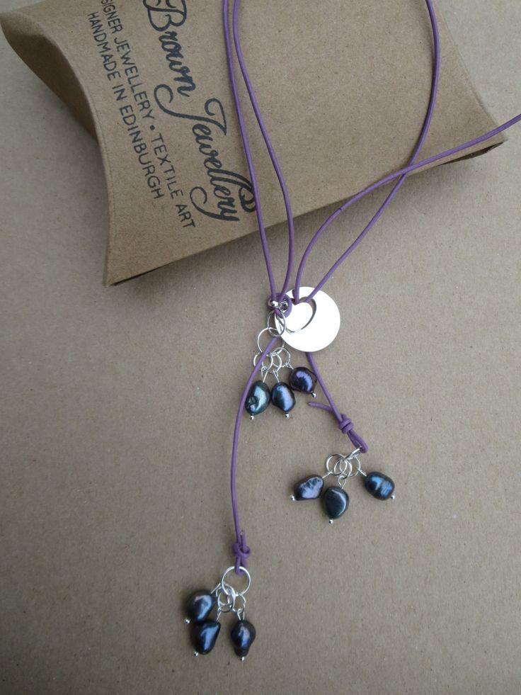 Pearl Lariat, Heart Pendant YNecklace, Freshwater Pearl Lariat, Pearl Pendant Necklace, Gemstones 2 Glamour Jewellery, K Brown Jewellery by KBrownJewellery on Etsy