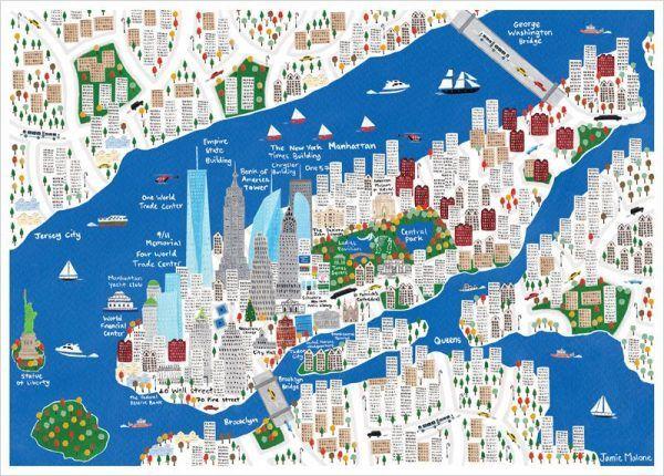 New York Mapa Turistico.Nesse Artigo Voce Vai Ver Os Detalhes Do Mapa De Nova York E Suas Principais Partes Tags Nova Iorqu Ilustracoes Com Mapas Mapa Turistico Mapa De Nova Iorque