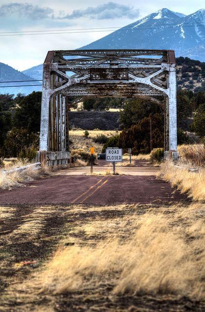 #USAMietwagenTips: Die alte Route 66 in Winona, Arizona. Tolles Bild…