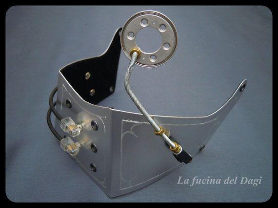 Maschera Steampunk in Metallo - su Etsy ..:: (La Fucina del Dagi) www.facebook.com/lafucinadeldagi/