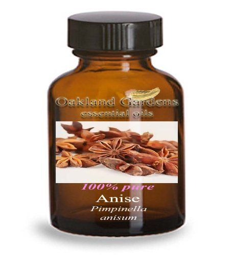 Anise Essential Oil - Pimpinella anisum - Blends well with cedarwood, chamomile, cypress, fennel, lavender, lime, neroli, nutmeg, orange, peppermint, petitgrain, rose, tea tree, and rosewood. (015 mL - 0.5 oz Bottle) by Oakland Gardens Wedding & Home Decor. $4.75. Aromatic Description: Distinctive scent of licorice. Rich and sweet.. Anise Essential Oil - (pimpinella anisum). Anise Oil Uses: Bronchitis, colds, coughs, flatulence, flu, muscle aches, rheumatism. [Julia ...