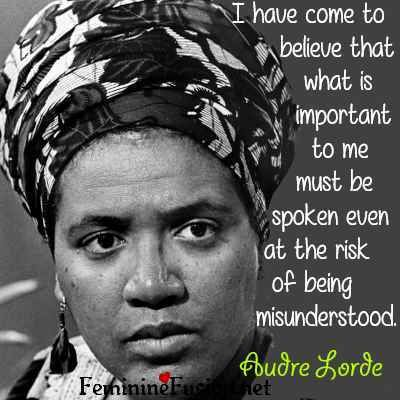 Audre Lorde Quote ~ Speaking Out