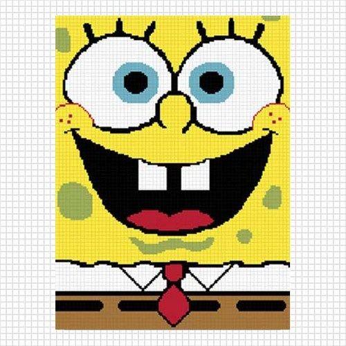 Spongebob Fun Face No  1 Crochet Pattern Graph Afghan