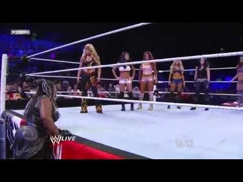 WWE Raw 5/23/11 - Beth, Eve, Gail Kim & Kelly vs Maryse, Melina & The Be...