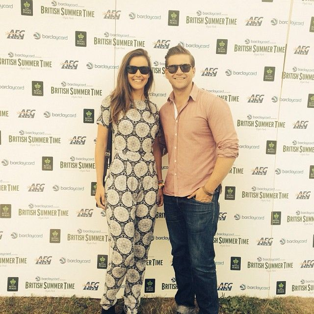 Charlie Webster and Allen Leech at the BST festival.  X  her again…