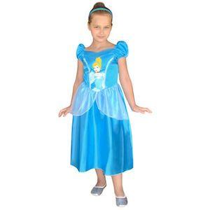 4-6 yaş için mavi renkli, Disney Sindirella Çocuk Kostümü, en değişik doğum günü hediyeleri, herkesekostum Cinderella Klasik Çocuk Kostümü 4-6 Yaş