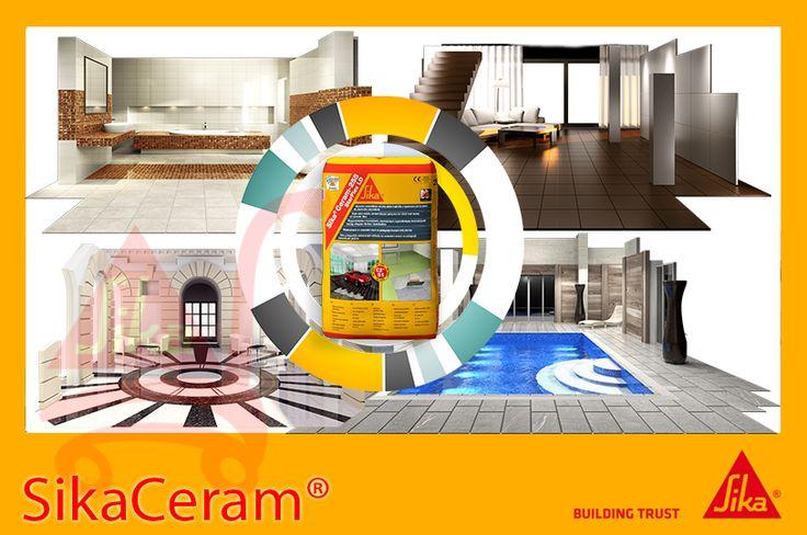 Tu ce adezivi si chituri folosesti pentru renovarea locuintei? Sika recomanda gama Sika Ceram!