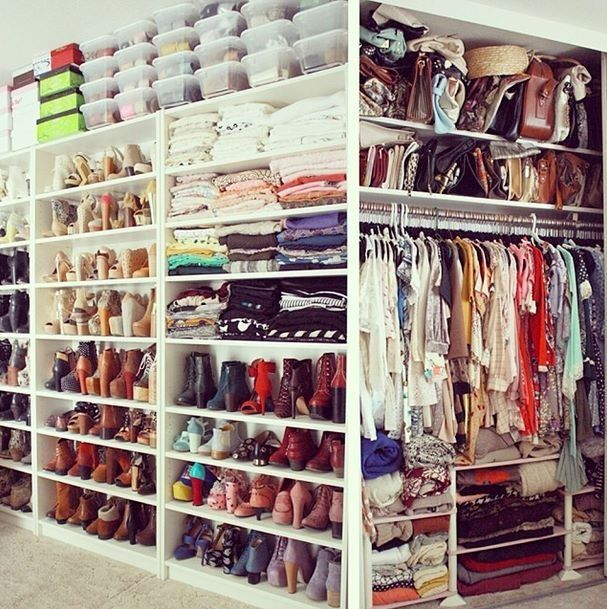 Closet organization... Love it!