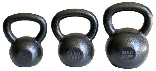 Ader Premier Kettlebell Set 12 16 24 Kg * Want additional info? Click on the image.