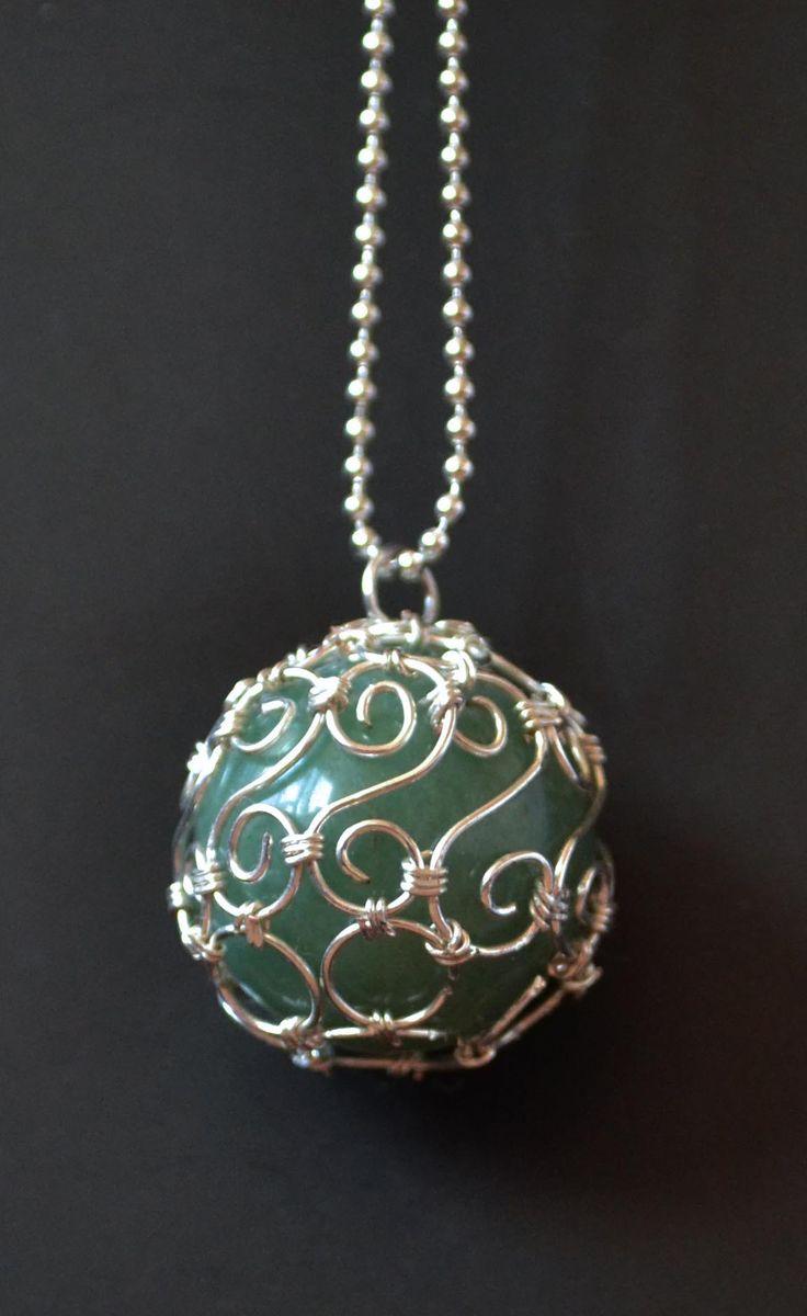 beautiful wire pendant